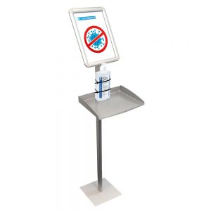 Franken Information Display incl. tray for disinfectant dispender